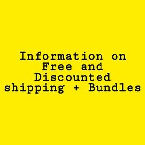 Shipping and discount info